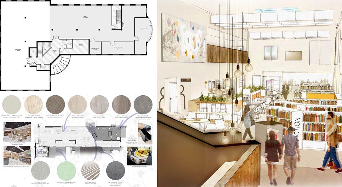 Floorplan, Sample Board and Illustration, Trackwest